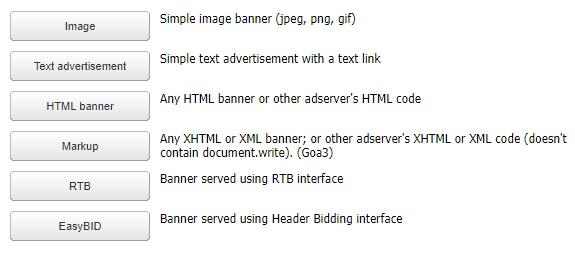 Bannertypes
